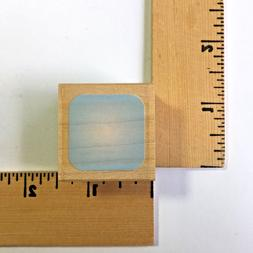 Memory Box Rubber Stamp - 1 inch Round Square B485 - NEW