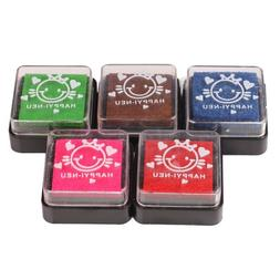 Vktech 5 in 1 Multi Coloured Washable Foam Ink Ink Pad Stamp
