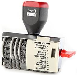 ExcelMark 12 Phrase Dater Rubber Stamp