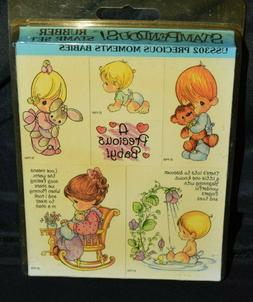 1996 Stampendous PRECIOUS MOMENTS BABIES 6 Rubber Stamp Set