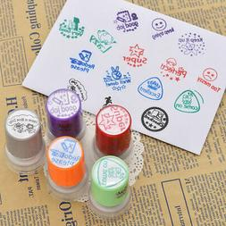 1PC Teacher Round Rubber Stamp Self Inking Comment Homework
