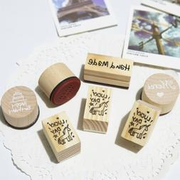 1pc Unicorn Wood <font><b>Stamps</b></font> Lucky Day Happy