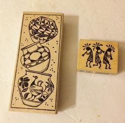 "2-1/2"" X 6-1/4"" Magenta Canada Rubber Stamp Wood Block-3 Art"