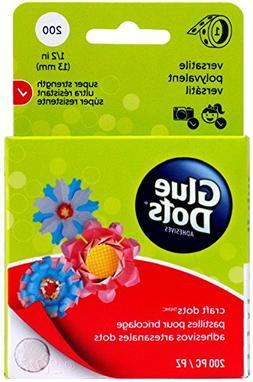 Glue Dots 1/2 Craft Dot Roll-200 Clear Dots