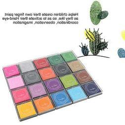 20 Colors DIY Cute Colorful Ink Pad Stamp Inkpad Rubber Stam