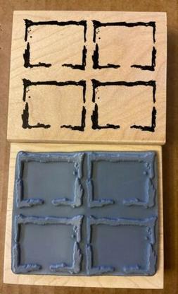 Art Impressions 2005 ~ Q-2865 ~ 4 Square Windows ~ Rubber St