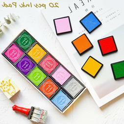 20pc Multicolor Rubber Stamp Craft Ink Pad DIY Scrapbooking