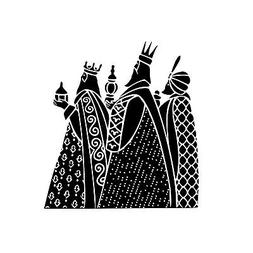 3 Kings / Wisemen Unmounted Rubber Stamp - Religious Christm