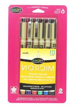 Sakura Pigma 30063 Micron Blister Card Ink Pen Set, Ass't Co
