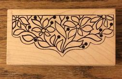 "4-1/4"" X 2-1/4"" Magenta Canada Rubber Stamp Wooden Block-Dec"