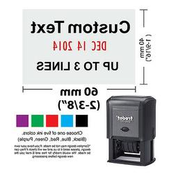 Trodat 4727  Rubber Self Inking date Stamp with 3 Lines Cust