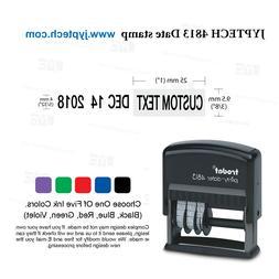 Trodat 4813 Self Inking Rubber Date Stamp w. One Line Custom