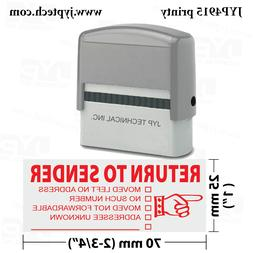 Trodat 4915  Self Inking Rubber Stamp, Stamp Text  RETURN TO