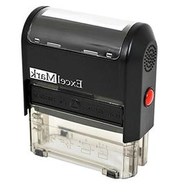 Self Inking Rubber Stamp with up to 2 Lines of Custom Text
