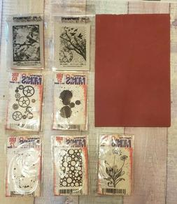 5 Paper Artsy Minis Rubber Stamps - 2 Tim Holtz Components S