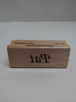 Inkadinkado 7477 G Pat Name Rubber Stamp
