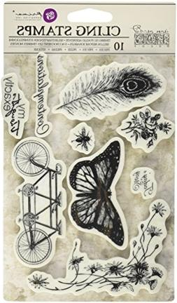 "Prima Marketing 814663 Iron Orchid Designs Cling Stamps 5""X7"
