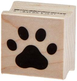 Hero Arts A6220 Paw Print Red Rubber Wood Stamp
