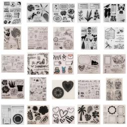 Acrylic Rubber Clear Stamps Sheet for DIY Photo Album Cards