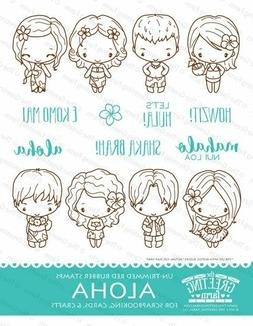 ALOHA KIT-The Greeting Farm Cling Rubber Stamp-Stamping-Anya