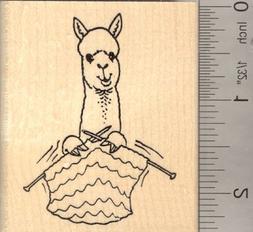 Alpaca knitting Yarn Rubber Stamp