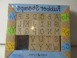Rubber Stampede Alphabet Stamp Kit 26 Rubber Stamps & Ink Pa