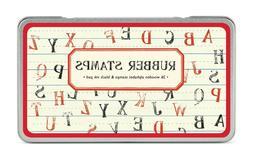 Cavallini & Co. Alphabet Uppercase Rubber Stamp Set