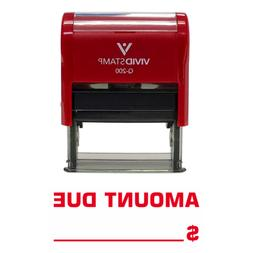 AMOUNT DUE Self Inking Rubber Stamp  - Medium