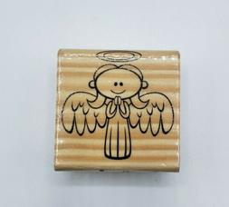 Recollections Angel Rubber Stamp Wood Mounted