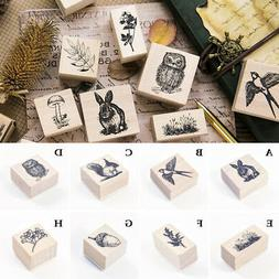 Animals Stamp Wooden Rubber Stamps For Scrapbooking Statione