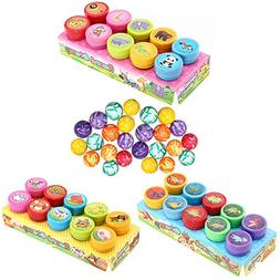 Animals Stamps Set for Kids, 25Pcs Super Rubber Bouncy Balls