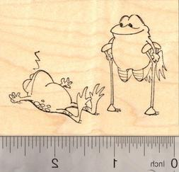 April Fools Day Pranks Frogs Play Rubber Stamp