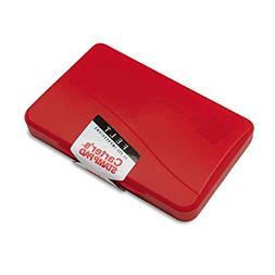 Carter's 21071 Felt Stamp Pad, 4 1/4 x 2 3/4, Red