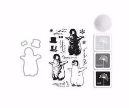 "Hero Arts ""BABY PENGUIN"" Stamps + Frame Cuts Dies + Ink Pads"