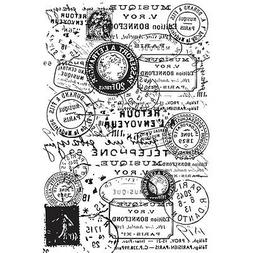 "Kaisercraft Background Postmarks Clear Stamp 3.5"" x 5.5"" app"