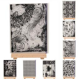 Background Silicone Clear Stamp Transparent Rubber Stamps DI
