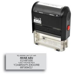 ExcelMark Custom Bank Deposit Stamp - 6 Lines