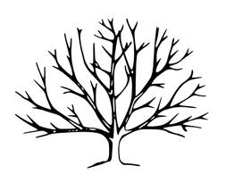 Bare Winter Tree unmounted rubber stamp, nature, Autumn, Fal
