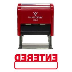 Basic ENTERED Self Inking Rubber Stamp  - Medium