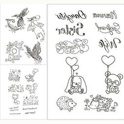 Bear Clear Transparent Rubber Stamps Scrapbook Paper Craft S