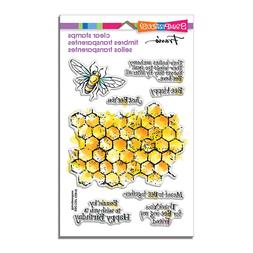 BEE Happy Honeycomb CLEAR Unmounted Rubber Stamp Set STAMPEN