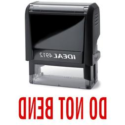 DO NOT BEND Red Office Stock Self-Inking Rubber Stamp