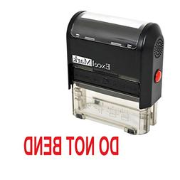 DO NOT BEND Self Inking Rubber Stamp - Red Ink