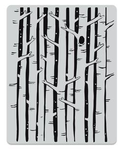 birch forest background cling rubber stamp 2019
