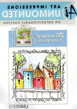 Art Impressions Birdhouse Neighborhood Rubber Stamp