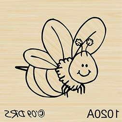 Bitsy Bumble Bee Rubber Stamp By DRS Designs