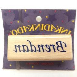 BRENDAN Inkadinkado Calligraphy Name Personalized Rubber Sta
