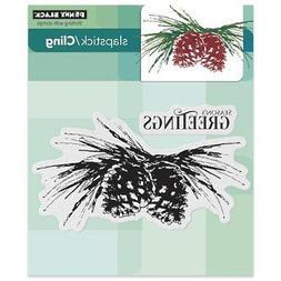 Penny Black 40-408 Brush Pines Slapstick/Cling Decorative Ru