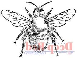 Deep Red Stamps Bumblebee Rubber Cling Stamp