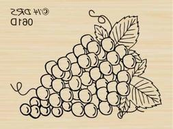 Bunch of Grapes Rubber Stamp By DRS Designs